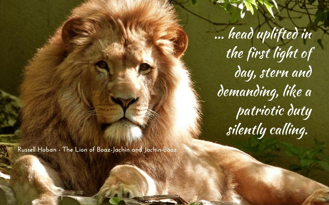 Russell Hoban - Lion of Boaz-Jachin and Jachin-Boaz - metaphor