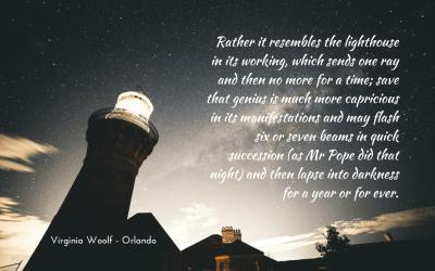Genius as lighthouse beams