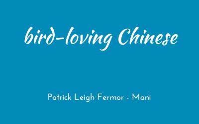 Bird-loving Chinese