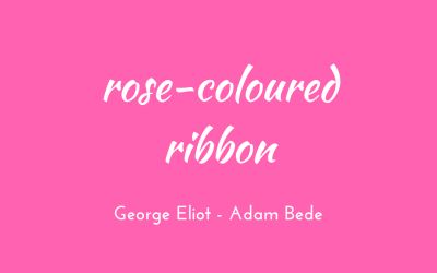 Rose-coloured ribbon