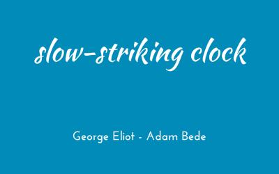 Slow-striking clock