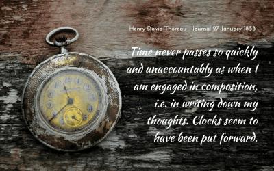 Writing time and speeding clocks