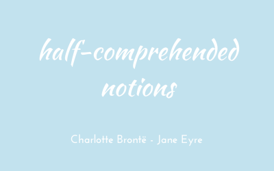 Half-comprehended notions