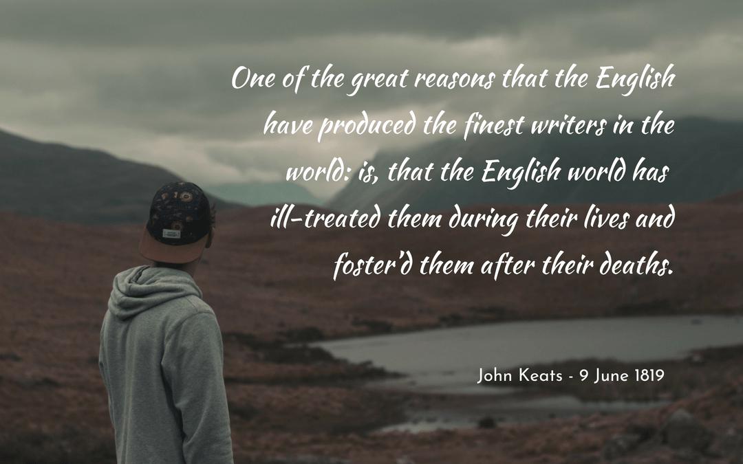 John Keats, letters, writers, English literature, poetry