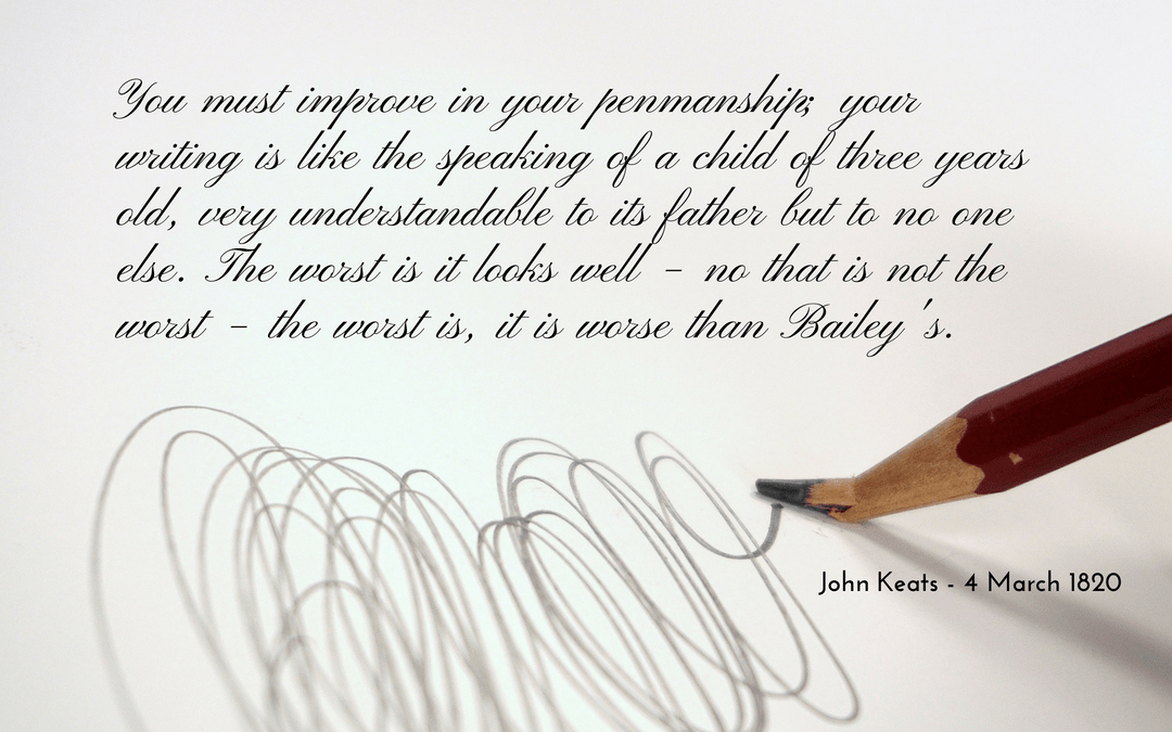 Keats - letter - handwriting - quotation