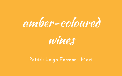 Amber-coloured wines