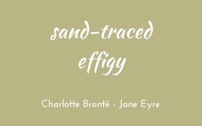 Sand-traced effigy