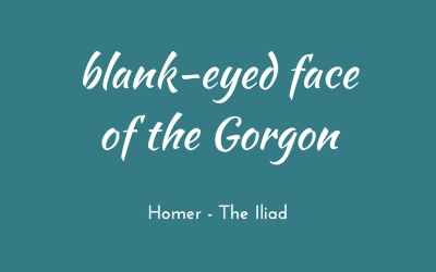 Blank-eyed face