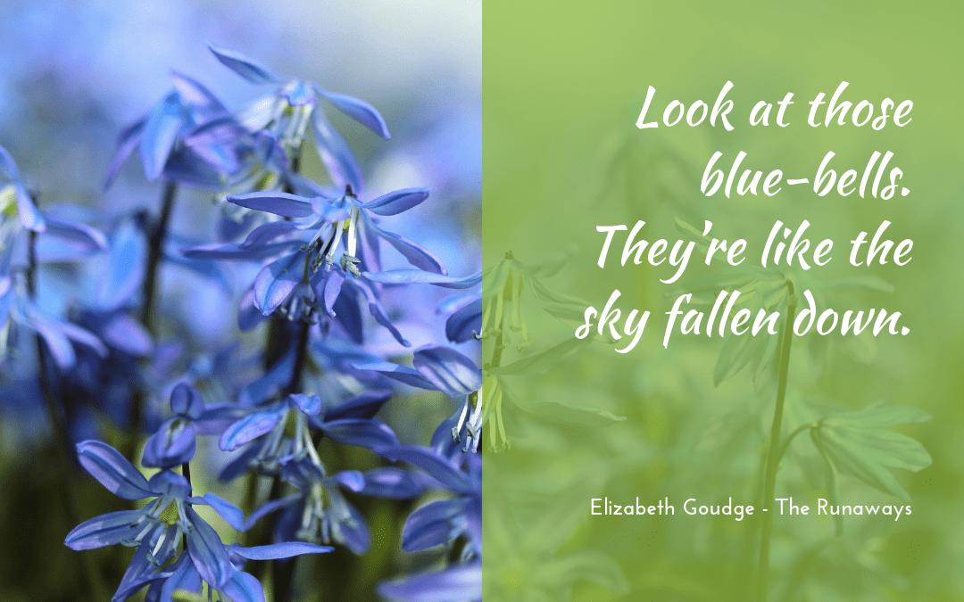 Elizabeth Goudge - The Runaways - quotation bluebells