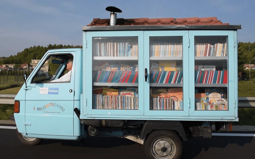 BBC film - Italy's smallest mobile library bibliomotocarro
