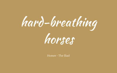 Hard-breathing horses