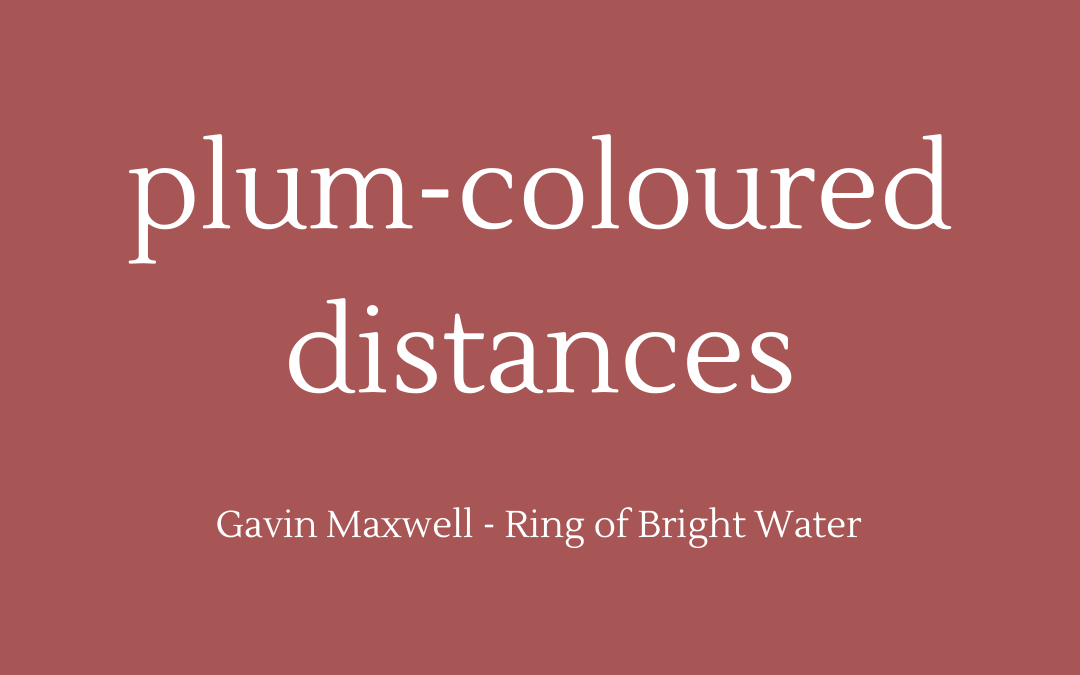 Gavin Maxwell - Ring of Bright Water - quotation