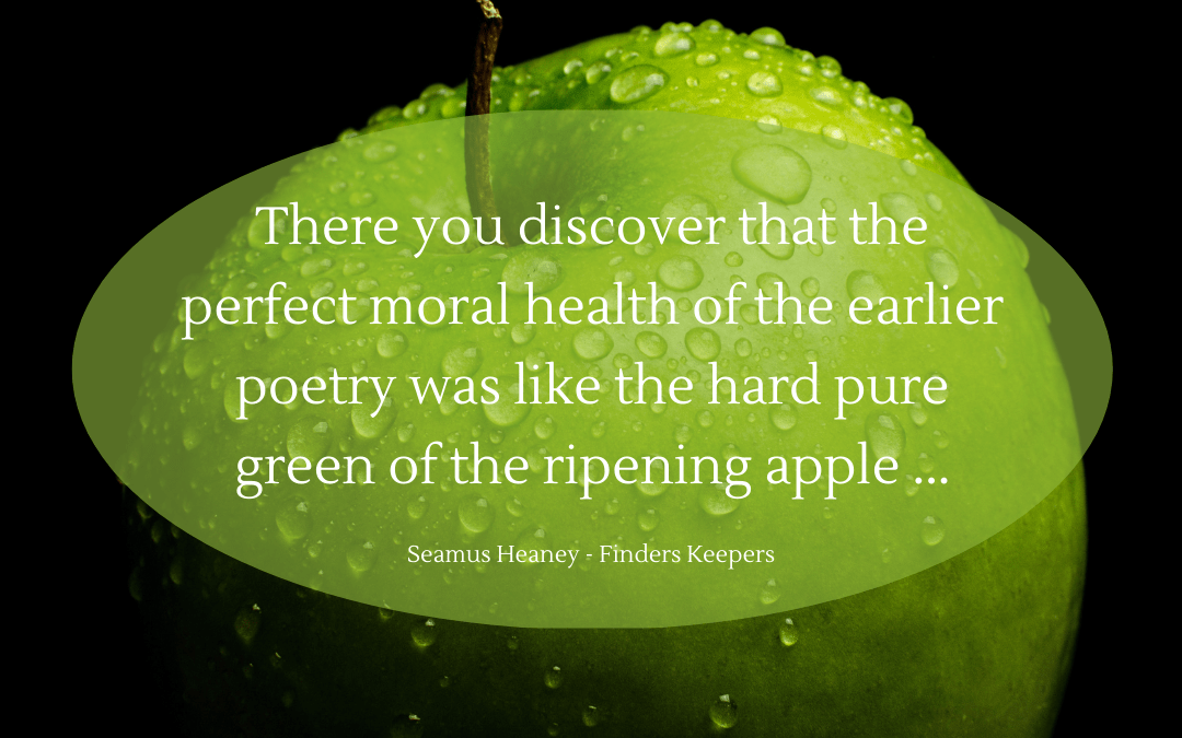 Quotation - Seamus Heaney - Finders Keepers