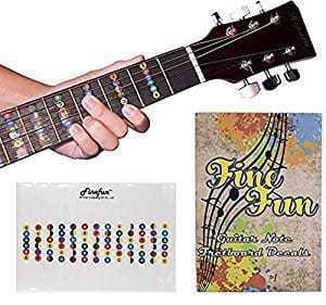 FineFun 100% vinyl Waterproof and Oil Proof Guitar Fretboard Decals