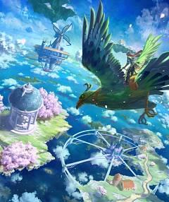 Floating Island - Floating - Zerochan Anime Image Board