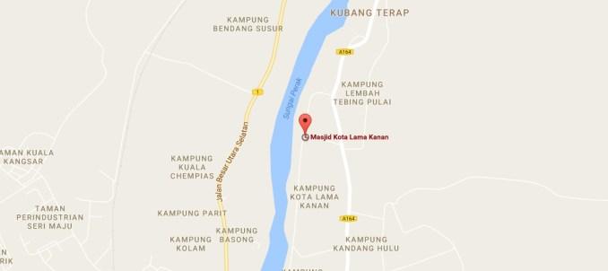 peta Masjid Kota Lama Kanan