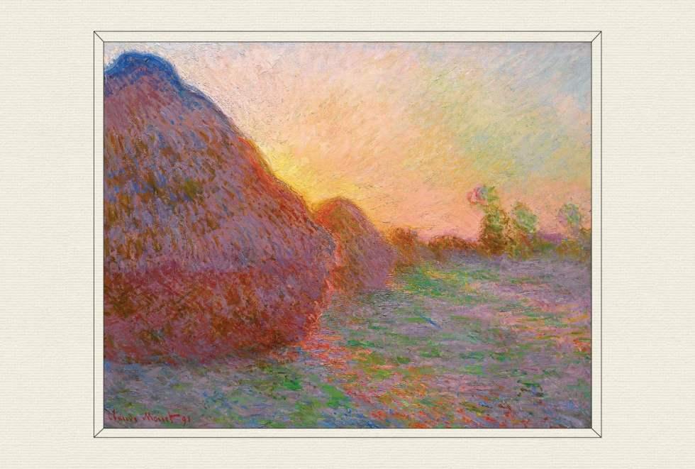 Meules, 1890, by Claude Monet
