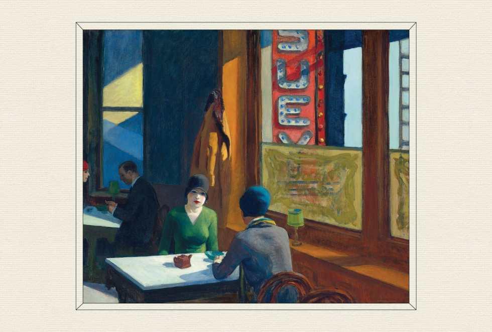 Chop Suey, 1929, by Edward Hopper