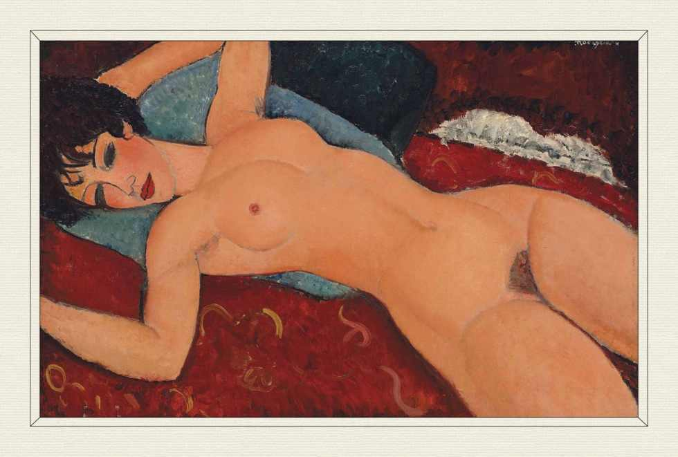 Nu couché (Reclining Nude), 1917–18, by Amedeo Modigliani