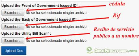 Verificar cuenta TM Venezuela