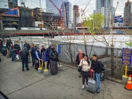 Megabus Bus Stop New York City USA