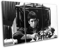 Scarface Al Pacino Movie Greats TREBLE CANVAS WALL ART ...