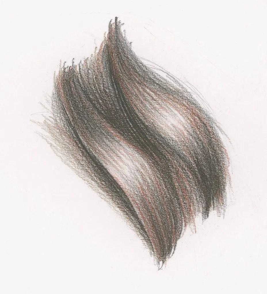Demonstração de cabelo longo ondulado, etapa 3 | Lee Hammond | Desenho de cabelo para iniciantes em grafite e lápis de cor | Rede de Artistas