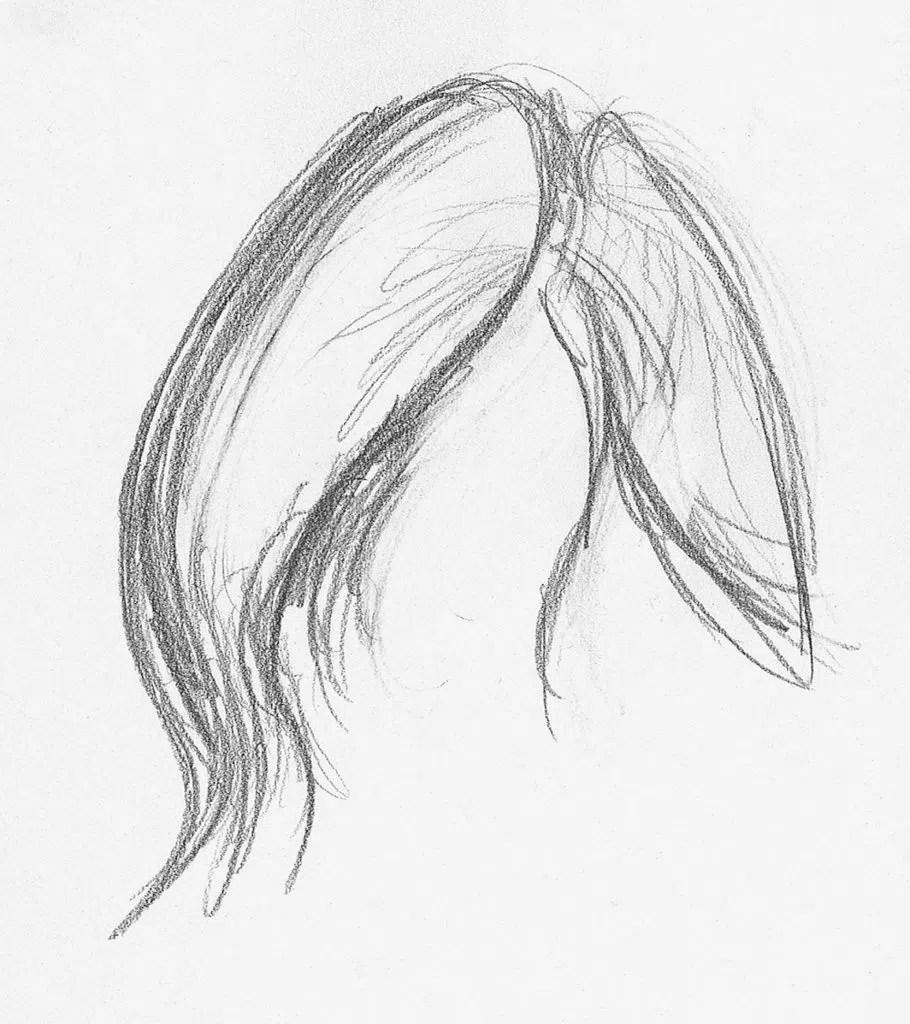 Demonstração de cabelos lisos, etapa 1 | Lee Hammond | Desenho de cabelo para iniciantes em grafite e lápis de cor | Rede de Artistas
