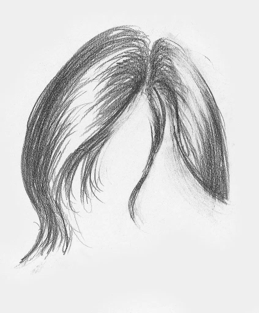 Demonstração de cabelos lisos, etapa 2 | Lee Hammond | Desenho de cabelo para iniciantes em grafite e lápis de cor | Rede de Artistas