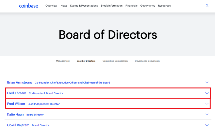 Coinbase Co-founder to Become Independent Director ...