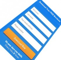 Lead generation with landing page form
