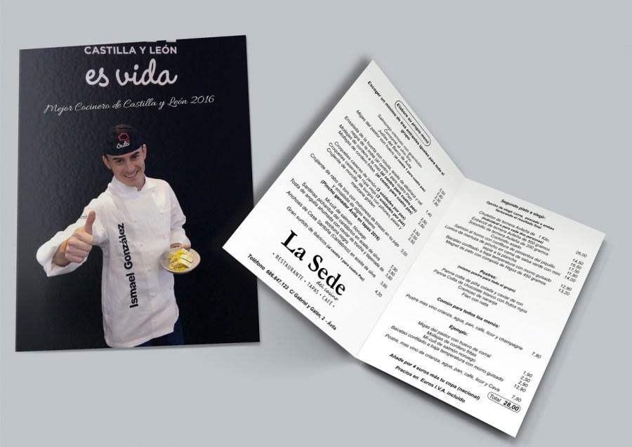 diseño cartas menu restaurante