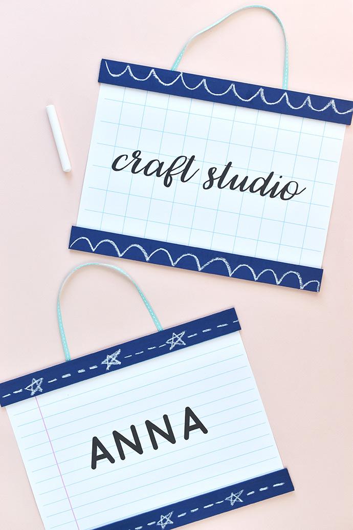 Printable School Style Room Signs Handmade Charlotte
