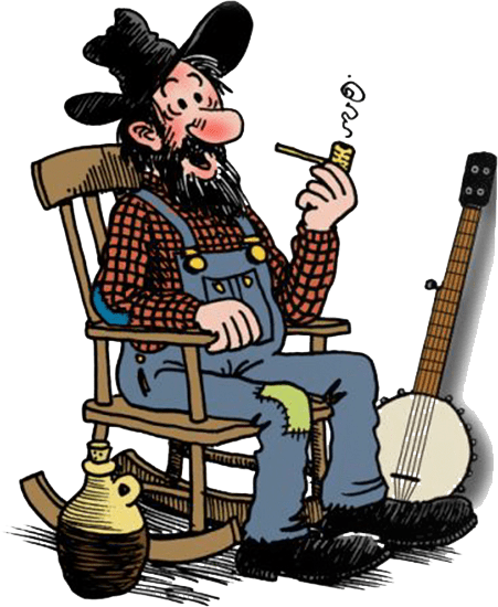 hillbilly on a rocking chair
