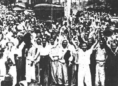 1945: Jubel über die Befreiung