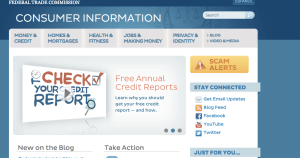 Screenshot from FTC website