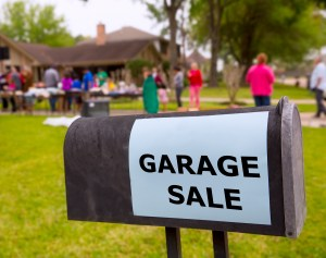 garage sale sell your stuff