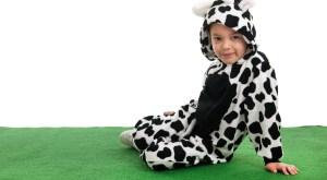 Boy dressed as cow