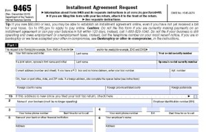 IRS Form 9465 Installment Agreement Request