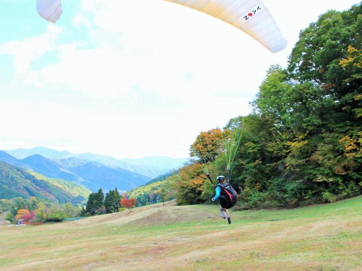 photo by 揖斐高原パラグライダー/エアロクルーズ 池田山パラグライダースクール|そとあそび
