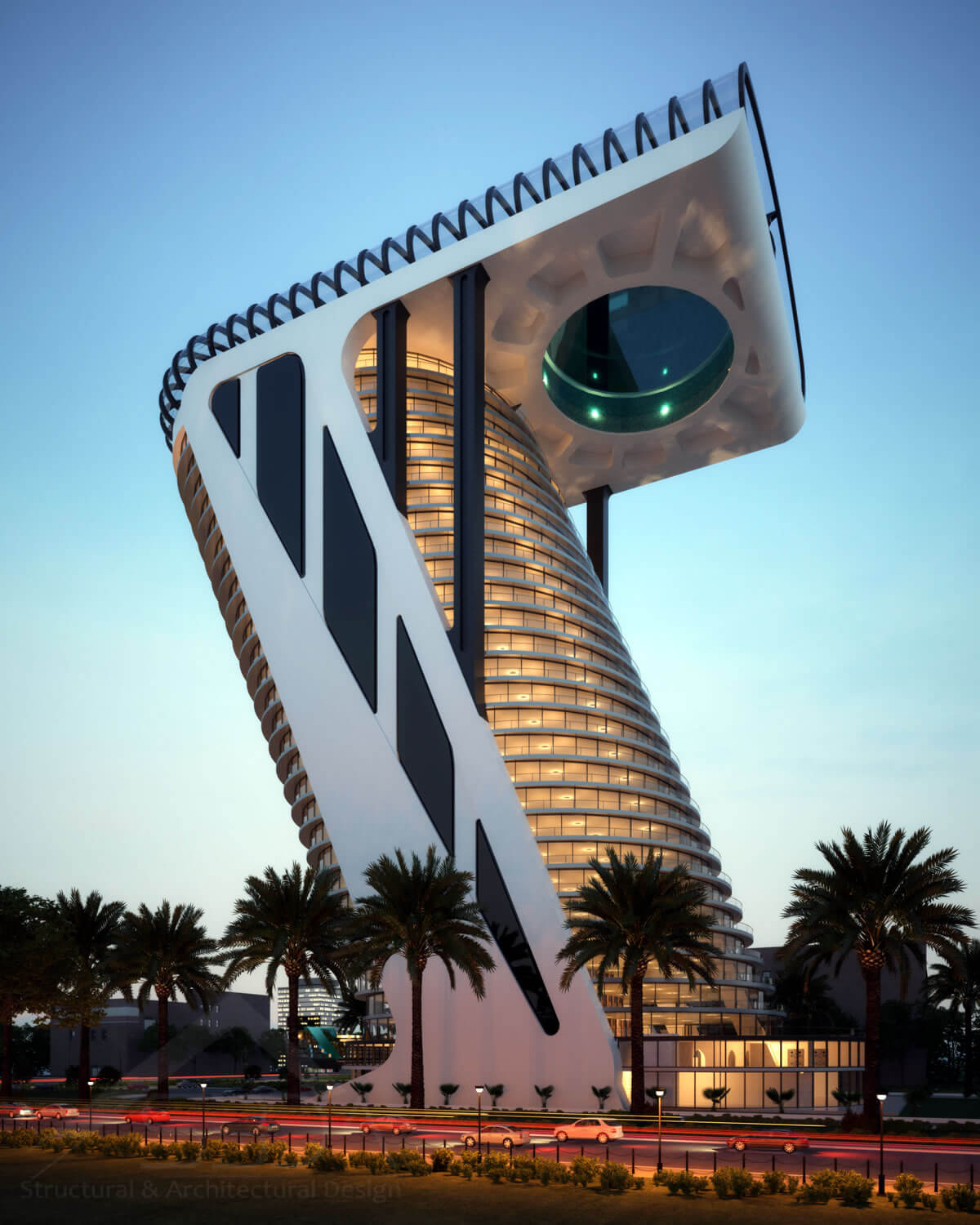 Conceptual Design of the Z Tower in Dubai - tower design