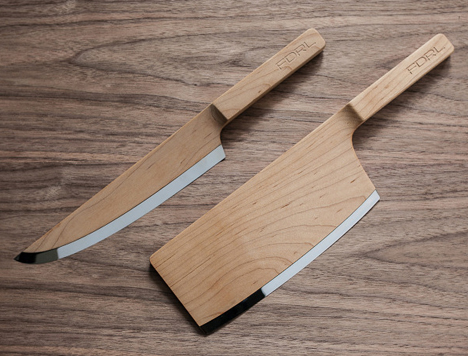 cool kitchen knives stacked stone outdoor yea or nay fdrl s wooden core77 their forthcoming line of definitely demonstrate some outside the box thinking as name