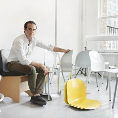 Chair Design Research Leg Raises Entrepreneurs Jonathan Olivares Core77 With Models Of The New Aluminum For Knoll Photo By Yoo Jean Han