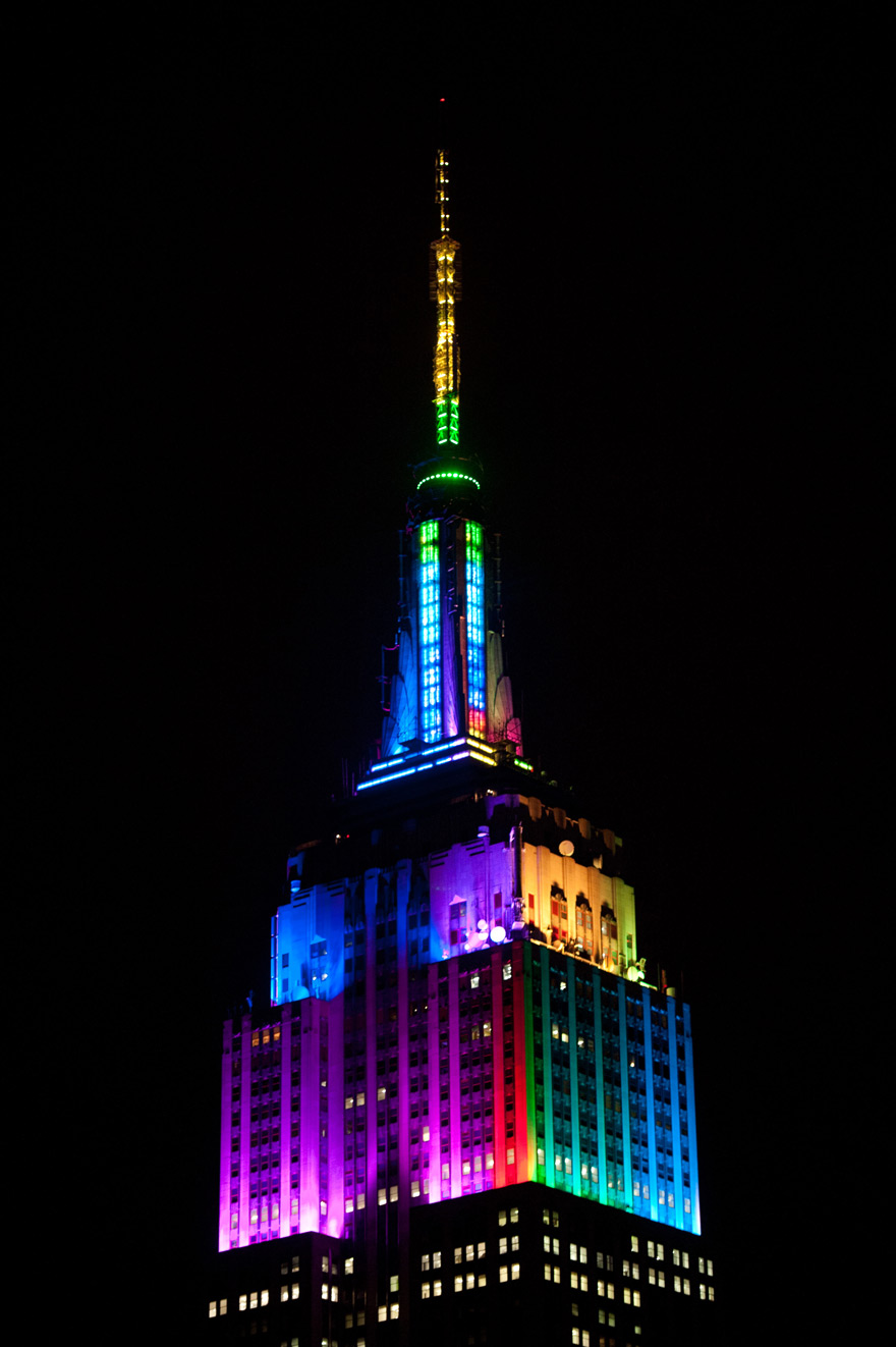 The Empire State Building Debuts New Antenna Lights with a