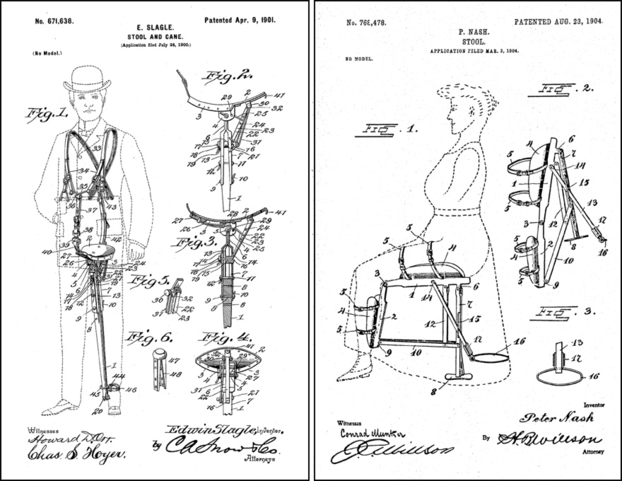 chair design patent folding cart who knew the wearable was actually invented 37 years ago core77 u s office being accessible archive that it is i curious to explore prior art extant patents are interpolated in one at