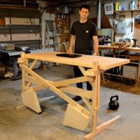 Scott Rumschlag's DIY Motor-Free, Height-Adjustable ...