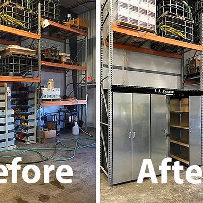 Space Efficient Shop Storage The Levrack System Core77