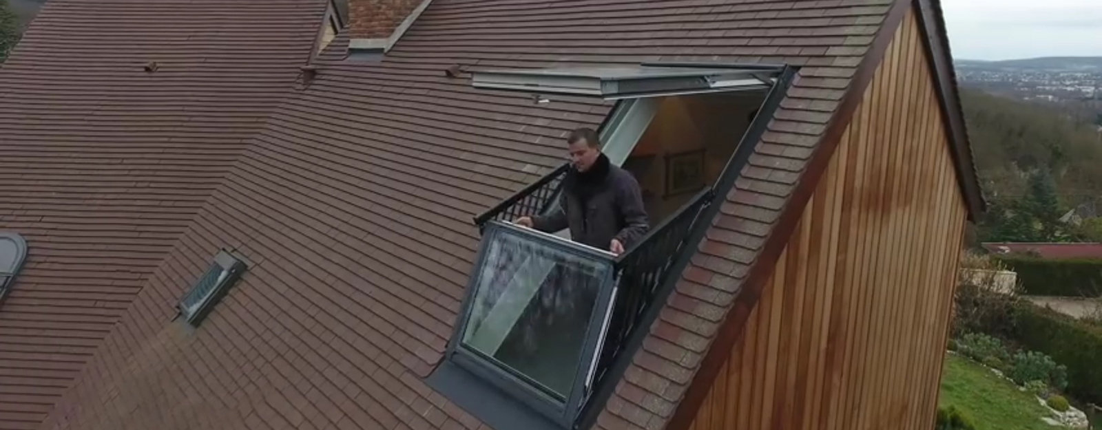a roof window that