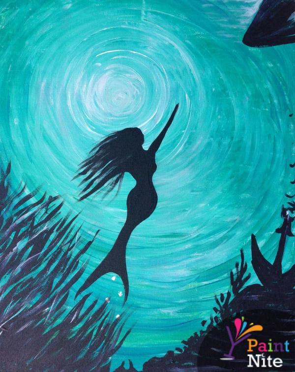 Paint Nite Mermaid Painting