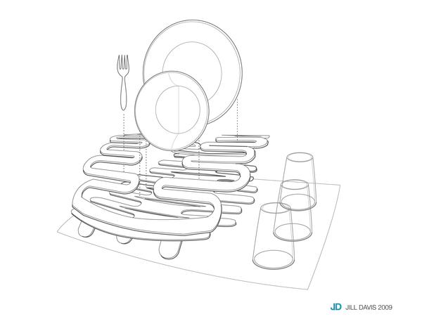 Splat Dish Rack by Jillian Davis at Coroflot.com